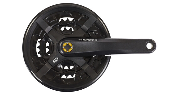 Shimano FC-M351 Zwengel MTB vierkant 9-speed 44-32-22 Z met beschermende kettingring zwart